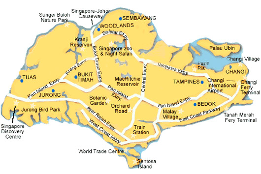 Singapore Map Map Of Singapore Singapore Interactive Map - Singapore map